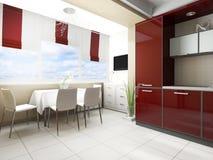 εσωτερική κουζίνα σύγχρ&omi στοκ φωτογραφία με δικαίωμα ελεύθερης χρήσης