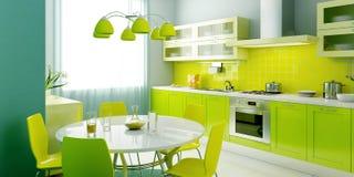 εσωτερική κουζίνα σύγχρ&omi διανυσματική απεικόνιση