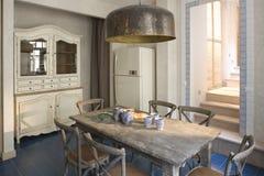 εσωτερική κουζίνα Στοκ εικόνα με δικαίωμα ελεύθερης χρήσης