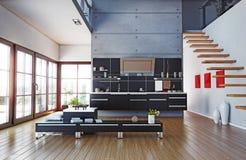 εσωτερική κουζίνα Στοκ εικόνες με δικαίωμα ελεύθερης χρήσης
