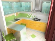 εσωτερική κουζίνα στοκ φωτογραφίες