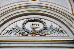 Εσωτερική λεπτομέρεια στην εκκλησία, Ρώμη, Ιταλία Στοκ Εικόνα