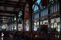 Εσωτερική ξύλινη εκκλησία Στοκ φωτογραφία με δικαίωμα ελεύθερης χρήσης