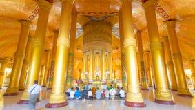 Εσωτερική παγόδα Sittwe Lawkananda στοκ εικόνα