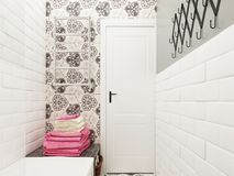 εσωτερική πετσέτα κύπελλων λουτρών Στοκ φωτογραφίες με δικαίωμα ελεύθερης χρήσης