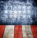 Εσωτερική σκούρο μπλε σύσταση τοίχων Grunge Στοκ Εικόνες