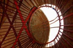 εσωτερική στέγη yurt στοκ εικόνες