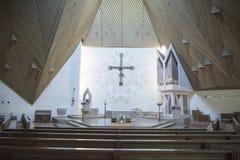 Εσωτερική σύγχρονη εκκλησία Στοκ φωτογραφία με δικαίωμα ελεύθερης χρήσης