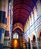 εσωτερική όψη προοπτικής καθεδρικών ναών αψίδων Στοκ εικόνες με δικαίωμα ελεύθερης χρήσης