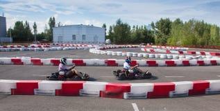 Εσωτερική karting φυλή στοκ φωτογραφία με δικαίωμα ελεύθερης χρήσης