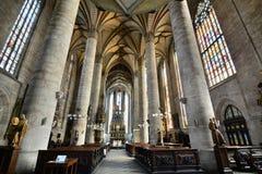 εσωτερικός Άγιος Bartholomew&#x27 καθεδρικός ναός του s Plzen cesky τσεχική πόλης όψη δημοκρατιών krumlov μεσαιωνική παλαιά Στοκ Εικόνες