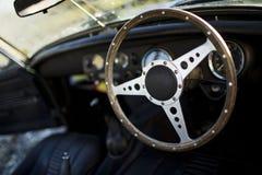Εσωτερικός γάμος αυτοκινήτων αυτοκίνητο αναδρομικό Στοκ φωτογραφίες με δικαίωμα ελεύθερης χρήσης