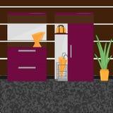 Εσωτερικός διάδρομος με την ντουλάπα ελεύθερη απεικόνιση δικαιώματος