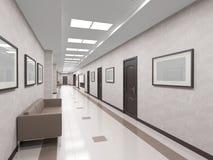 Εσωτερικός διάδρομος με τις πόρτες στοκ εικόνες με δικαίωμα ελεύθερης χρήσης