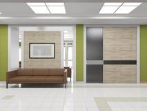 Εσωτερικός διάδρομος με τον καναπέ απεικόνιση αποθεμάτων