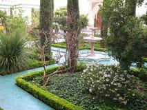 Εσωτερικός κήπος του μουσουλμανικού τεμένους του Παρισιού Στοκ εικόνες με δικαίωμα ελεύθερης χρήσης