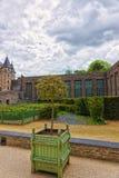 Εσωτερικός κήπος του πύργου Angers της κοιλάδας της Loire στη Γαλλία Στοκ Φωτογραφία