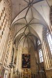 Εσωτερικός καθεδρικός ναός του ST Stephen ` s και το κάθισμα του Αρχιεπισκόπου το Σεπτέμβριο του 2017 της Βιέννης Αυστρία Στοκ εικόνα με δικαίωμα ελεύθερης χρήσης
