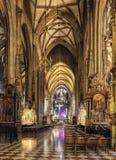 Εσωτερικός καθεδρικός ναός του ST Stephen (Stephansdom) η εκκλησία μητέρων του Ρωμαίου - καθολικό Archdiocese της Βιέννης Στοκ Φωτογραφίες