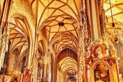 Εσωτερικός καθεδρικός ναός του ST Stephen (Stephansdom) Στοκ φωτογραφίες με δικαίωμα ελεύθερης χρήσης