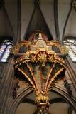 Εσωτερικός καθεδρικός ναός Strassbourg στοκ φωτογραφία