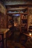 Εσωτερικός μαύρος μαγικός καφέδων Στοκ εικόνες με δικαίωμα ελεύθερης χρήσης