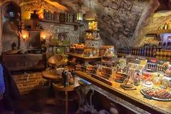 Εσωτερικός μαύρος μαγικός καφέδων Στοκ Φωτογραφίες