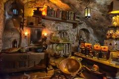 Εσωτερικός μαύρος μαγικός καφέδων Στοκ φωτογραφία με δικαίωμα ελεύθερης χρήσης