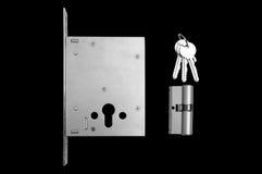 Εσωτερικός μηχανισμός του κλειδώματος πορτών στοκ εικόνα με δικαίωμα ελεύθερης χρήσης