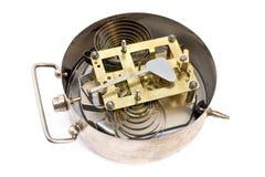 Εσωτερικός μηχανισμός του παλαιού ρολογιού συναγερμών στοκ εικόνα