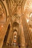 Εσωτερικός νέος καθεδρικός ναός - Σαλαμάνκα Στοκ Φωτογραφίες