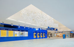 Εσωτερικός νέος σιδηροδρομικός σταθμός Μπρέντα, Κάτω Χώρες στοκ φωτογραφία με δικαίωμα ελεύθερης χρήσης