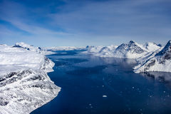 Εσωτερικός πάγος της Γροιλανδίας Στοκ εικόνες με δικαίωμα ελεύθερης χρήσης