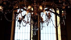 εσωτερικός παλαιός εκκ Τοπίο στην εκκλησία φιλμ μικρού μήκους