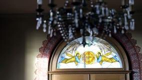 εσωτερικός παλαιός εκκ Τοπίο στην εκκλησία απόθεμα βίντεο