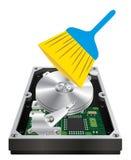 Εσωτερικός σκληρός δίσκος με μια cleanning βούρτσα ράβδων ελεύθερη απεικόνιση δικαιώματος