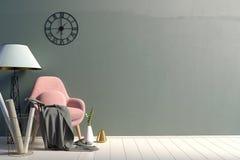 εσωτερικός σύγχρονος εδρών χλεύη τοίχων επάνω διανυσματική απεικόνιση