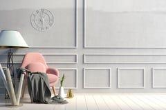 εσωτερικός σύγχρονος εδρών χλεύη τοίχων επάνω ελεύθερη απεικόνιση δικαιώματος