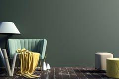 εσωτερικός σύγχρονος κ&a χλεύη τοίχων επάνω ελεύθερη απεικόνιση δικαιώματος