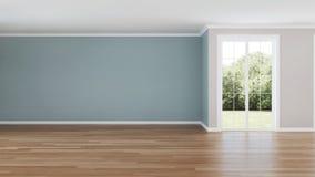 εσωτερικός σύγχρονος σπιτιών κενό δωμάτιο στοκ φωτογραφίες