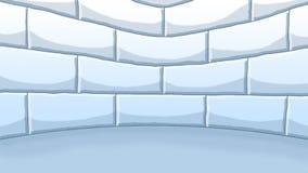 Εσωτερικός τοίχος παγοκαλυβών βόρειων πόλων Στοκ εικόνα με δικαίωμα ελεύθερης χρήσης