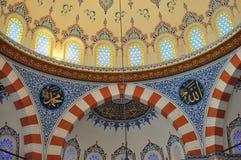 εσωτερικός Τούρκος μουσουλμανικών τεμενών σχεδίου Στοκ Εικόνες