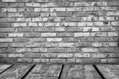 Εσωτερικός τρύγος δωματίων με τον άσπρο τουβλότοιχο και Στοκ φωτογραφίες με δικαίωμα ελεύθερης χρήσης