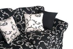 Εσωτερικός υπαίθριος καναπές στα γραπτά υφάσματα Στοκ φωτογραφία με δικαίωμα ελεύθερης χρήσης
