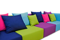 Εσωτερικός υπαίθριος καναπές Στοκ φωτογραφία με δικαίωμα ελεύθερης χρήσης