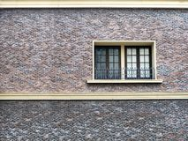 εσωτερικός υπαίθριος τουβλότοιχος πετρών παραθύρων και άμμου Στοκ φωτογραφία με δικαίωμα ελεύθερης χρήσης