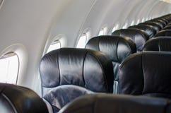 Εσωτερικό άποψης καθισμάτων αεροπλάνων Στοκ Φωτογραφίες