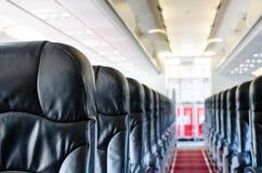 Εσωτερικό άποψης καθισμάτων αεροπλάνων Στοκ Εικόνες