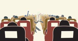 εσωτερικό αεροπλάνων διανυσματική απεικόνιση