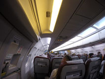 Εσωτερικό αεροσκαφών Στοκ Εικόνα